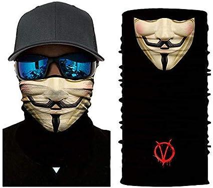 2pcs Multi-use Face Mask Sun UV Neck Gaiter Fishing Ski Balaclava Headband Scarf