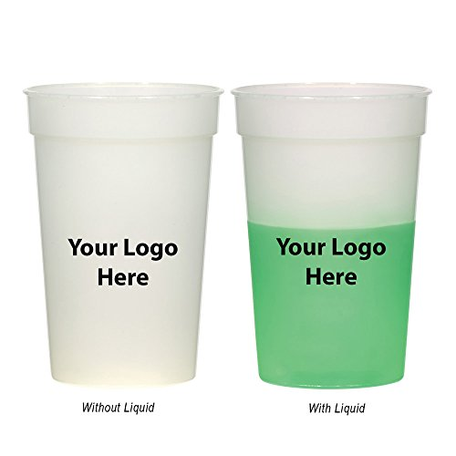 "17 Oz. Color Changing Stadium Cup - 100 Quantity - $1.05 Each - Promotional Product/Bulk with Your Logo/Customized. Size: 5"" H."
