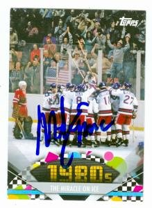 Mike Eruzione autographed trading card (1980 United States Olympic Hockey Team) 2011 Topps American Pie #137 by...