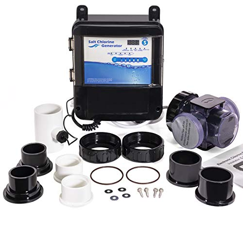 XtremepowerUS Complete Salt Water System Chlorine Swimming Pool Generator Chlorination Easy DIY Installation up to 18,000 Gallons