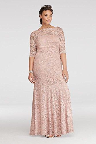 Plus-Size-Illusion-Glitter-Lace-Long-Mermaid-Mother-of-BrideGroom-Dress