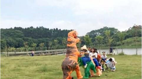 1,8 m 1,6 Costume gonfiabile da dinosauro per adulti