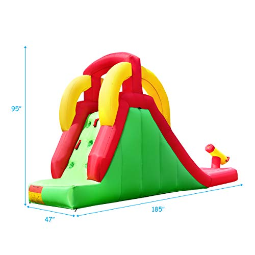 Costzon Inflatable Water Slide, Climb and Slide Bouncer for Kids Without Blower by Costzon (Image #6)