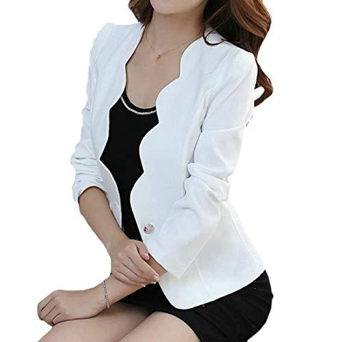 Alta Tasche Lunga Business Outerwear Leisure Autunno Da Di Qualità Ragazza Giacca Puro Manica Giubotto Donna Anteriori Suit Bianca Button Colore Moda Tailleur va8xqUR
