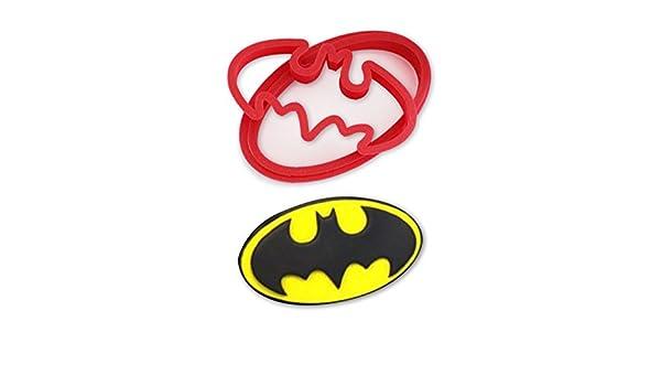 Juego de cortadores de galletas con el logotipo de Batman: Amazon ...