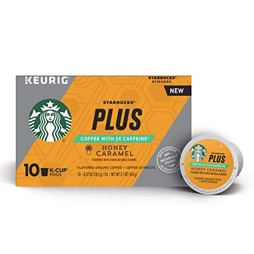 Starbucks Plus Honey Caramel Single Cup Coffee for Keurig Brewers, 6 Boxes of 10 (60 Total K-Cup ()