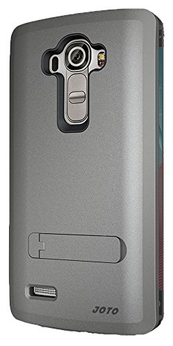 LG G4 Case, [ Kickstand Case ] - JOTO Hybrid Tri Layer Armor Cover Case with Kickstand for LG G4 2015, [Flexible TPU + Double Hard PC], LG G4 Stand Case (Grey)