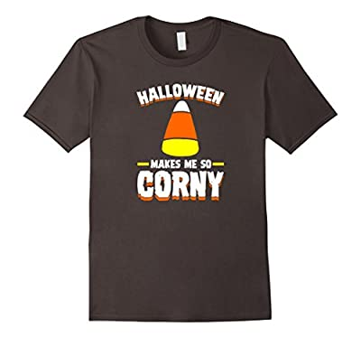Halloween Makes Me So Corny Funny T-Shirt for Men Women Kids
