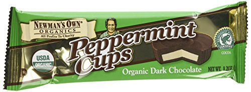 Newman's Own Dark Chocolate Cups, Peppermint, 1.2-Ounce Cups (Pack of 16)