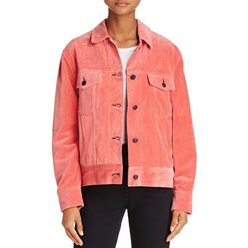 rag & bone Womens Velvet Oversized Jacket Orange L