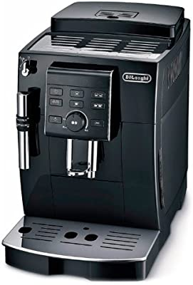 Delonghi ECAM 23.120.B - Cafetera superautomática, 1450 W, depósito agua extraíble 1.8 L, sistema capuccino, panel control personalización de cafés, 2 tazas, espumador leche, negro: Amazon.es: Hogar
