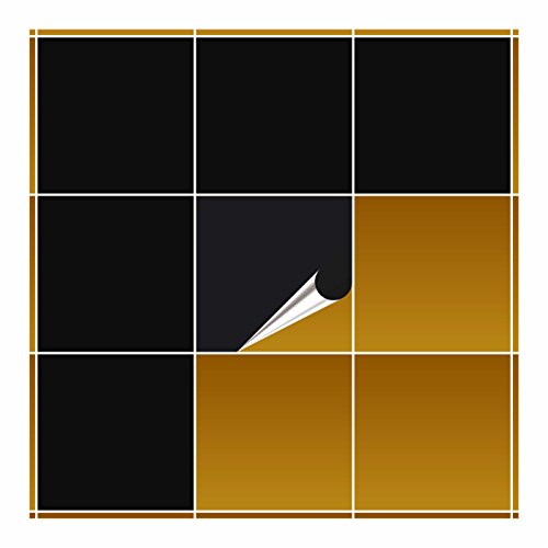 FoLIESEN - Fliesenaufkleber - schwarz matt - 20cm x 20cm - 20 Stück