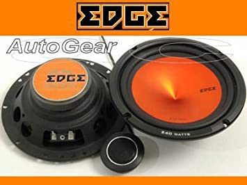 Pair Edge Audio ED306 6.5 165mm 240w 240 Watts Car Door Component Speakers Set