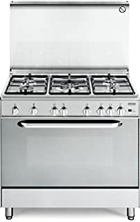 de longhi cucina a gas 5 fuochi forno gas ventilato grill 90x60cm dgvx965