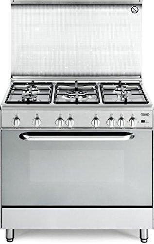 De Longhi Cucina a Gas 5 Fuochi Forno Gas Ventilato Grill 90x60cm ...