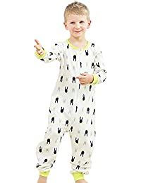 Kids Onesie Pajamas Cotton Easy Zip Open One Piece Pajamas for Children  Size 3T-9T 0cbdb6d92