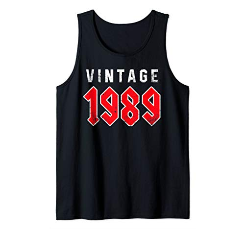 Retro Vintage 1989 TShirt 30th Birthday Gifts 30 Years Old Tank Top (Top Gifts For 30 Year Old Woman)