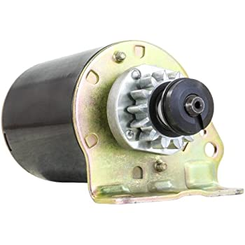 Amazon new starter briggs john deere lawn tractor l100 l105 starter motor fits briggs stratton cub cadet 165 17 175 hp engine 14 tooth steel drive sciox Images