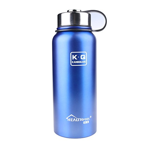Holidayli 800ML Insulated Stainless Steel Water Bottle, Wide Mouth Outdoor Sports Camping Hiking 28 oz