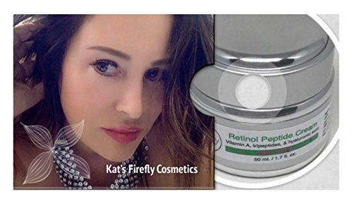 Kat's Firefly Cosmetics- Retinol A Cream, With Hyaluronic & Peptides-Helps Boost Collagen, Unclog Pores, & Reduce Fine Lines, Anti-Aging Skincare For Women and Men 50ML.