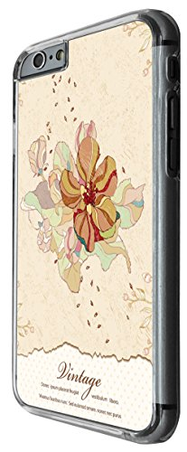 997 - cool fun cute flower shabby chic vintage art floral Design For iphone 6 6S 4.7'' Fashion Trend CASE Back COVER Plastic&Thin Metal -Clear