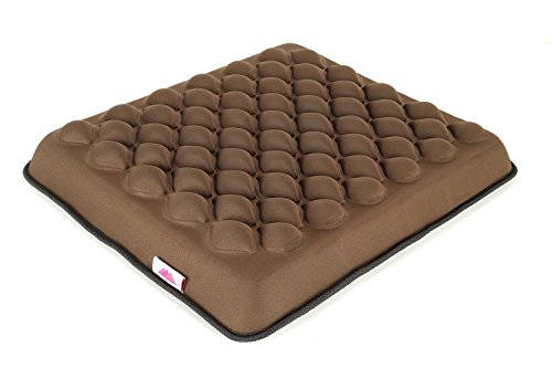 FOMI Gel plus Foam Heavy Duty Seat Cushion for Wheelchair, Office, Car. Prevents Sores. Massage convexes increases air circulation. Coccyx / Lower Back Pain Relief. (18
