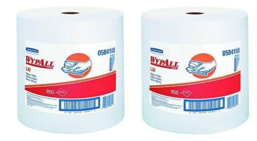 WypAll 05841 L30 Wipers, 12 2/5 x 13 3/10, White, 1 Roll (2-Pack)