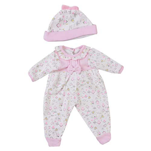 Fenteer 2 Pieces Comfortable Cotton Clothes for 17-18inch Reborn Baby Girl Doll Long Sleeve Rompers - 17 Cloths Inch