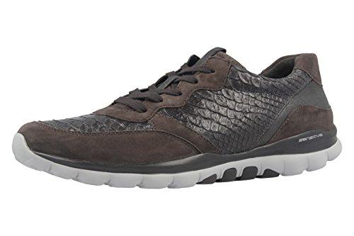 Gabor 56.968.83 - Zapatos de Cordones de Piel Para Mujer Gris Gris, Color Gris, Talla 42