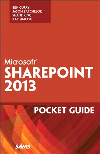 Microsoft SharePoint 2013 Pocket Guide (Other Sams) Pdf