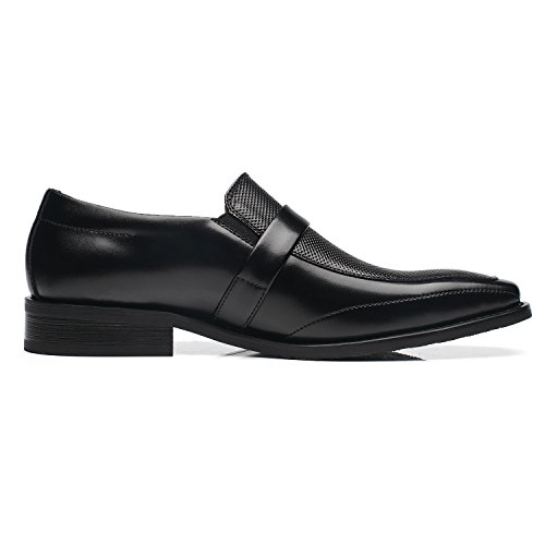 Shoes Buckle 2 black Formal YORK Mens Oxford Slip Business Loafer NEW Comfortable Randy NXT On Toe Shoes Moc Classic FvXqxwFBWO