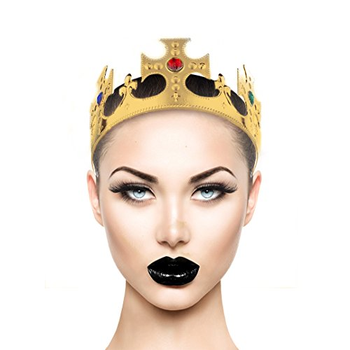 Gold Tone Crown (Lux Accessories Goldtone and Gemstone Halloween Prop Prince Princess Head Crown)