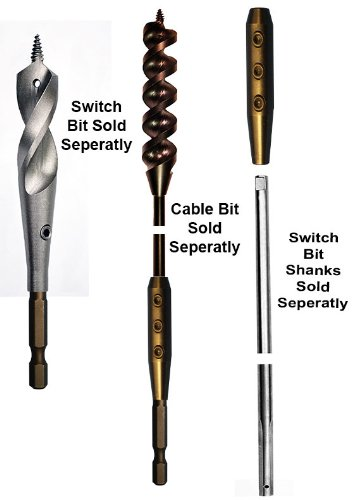 Eagle Tool US ETHXKIT250 Quick Switch Hex Adapter and Installer Drill Bit Extension Kit, 1/4-Inch, Made in the USA