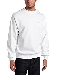 Champion Men's Pullover Eco Fleece Sweatshirt, White, X-Large