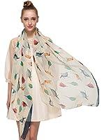 HUAN XUN Soft Lightweight Floral Bird Animal Print Infinity Loop Scarf