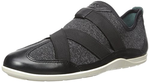 ECCO Women's Bluma Slip-On Black/Black White/Biscaya discount with mastercard the cheapest cheap price Xk6Bds7Fm0