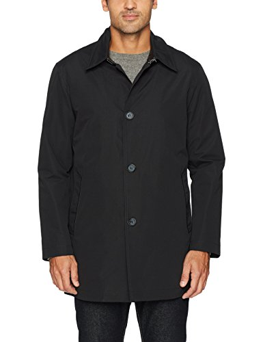 Cole Haan Signature Men's 2-in-1 Car Coat with Removable Lining, Black, Medium - Quilted Car Coat