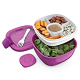 Bentgo Salad (Purple) BPA-Free Lunch Container with Large 54-oz Salad...