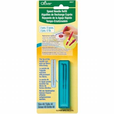 - Clover 8907 Felting Speed Needle Tool Refill Size 40 2/Pkg-