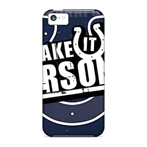 Iphone 5c Foi2543OXWY Allow Personal Design Colorful Indianapolis Colts Skin High Quality Cell-phone Hard Cover -no1cases