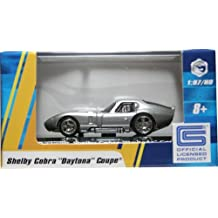 "1:87 / HO SCALE SHELBY COBRA ""DAYTONA"" COUPE (SILVER) Hot Wheels Vehicle & Acrylic Display Case"