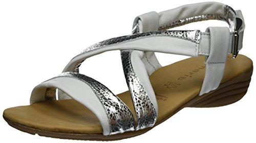 silver Ouvert 28130 191 Sandales Femme Blanc Bout white Tamaris g0Rqwaq
