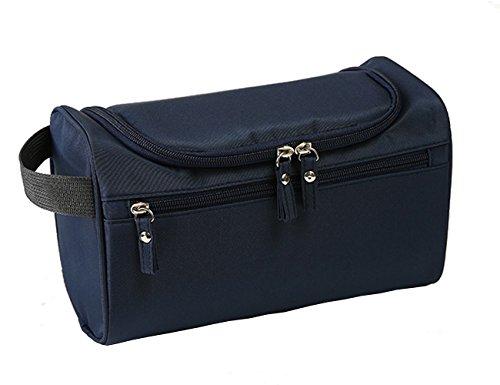 iSuperb Hanging Toiletry Bag Travel Bag Water Resistant Lightweight Wash Gym Shaving Bag Organizer for Women Men 10 x 5.5 x 5 inches(Dark Blue)
