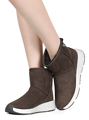 Boots Women's Snow 4 Suede Chocolate Sheepskin amp;MU Fur Winter Full AU q8T548