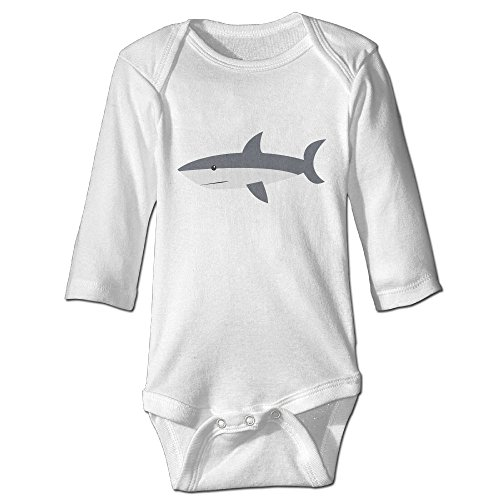Lifeguard And Swimmer Costume (Hatted Cat Cartoon Great White Shark Pattern Cute Unisex Long Sleeve Baby Clothes)