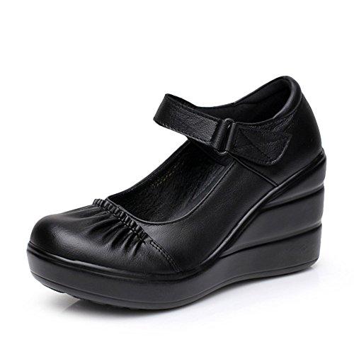 Zapatos de plataforma de las señoras/Los tacones de cuña plataforma/Luz de cabeza zapatos A