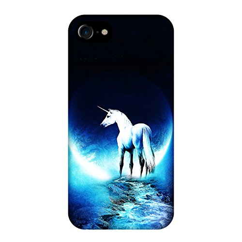 Coque Apple Iphone 7 - Licorne planète bleu