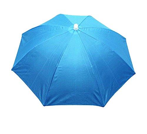 Fishing Golf Beach Sun Shade Umbrella Hat Headwear Sky Blue For Adults