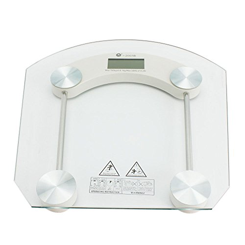 Moon Daughter Digital Glass LCD Electronic Weight Body Bathroom Health Scale MAX 396LB Auto Power by Moon_Daughter