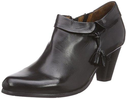 mujer negro de botas 961337 Piazza cuero negro wxSAvWq